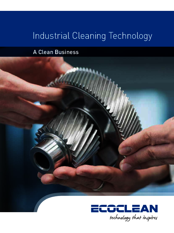 Ecoclean Industrial Cleaning Technology Brochure Title Image