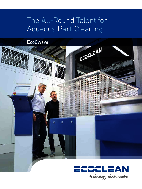 Ecoclean Brochure EcoCWave Image