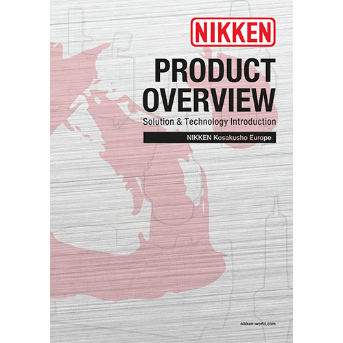 NIKKEN Product overview brochure containing tooling, rotary tables, presetters and angle heads