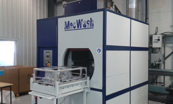 The MecWash Duo 600 installed at CastAlum's Mid Wales plant