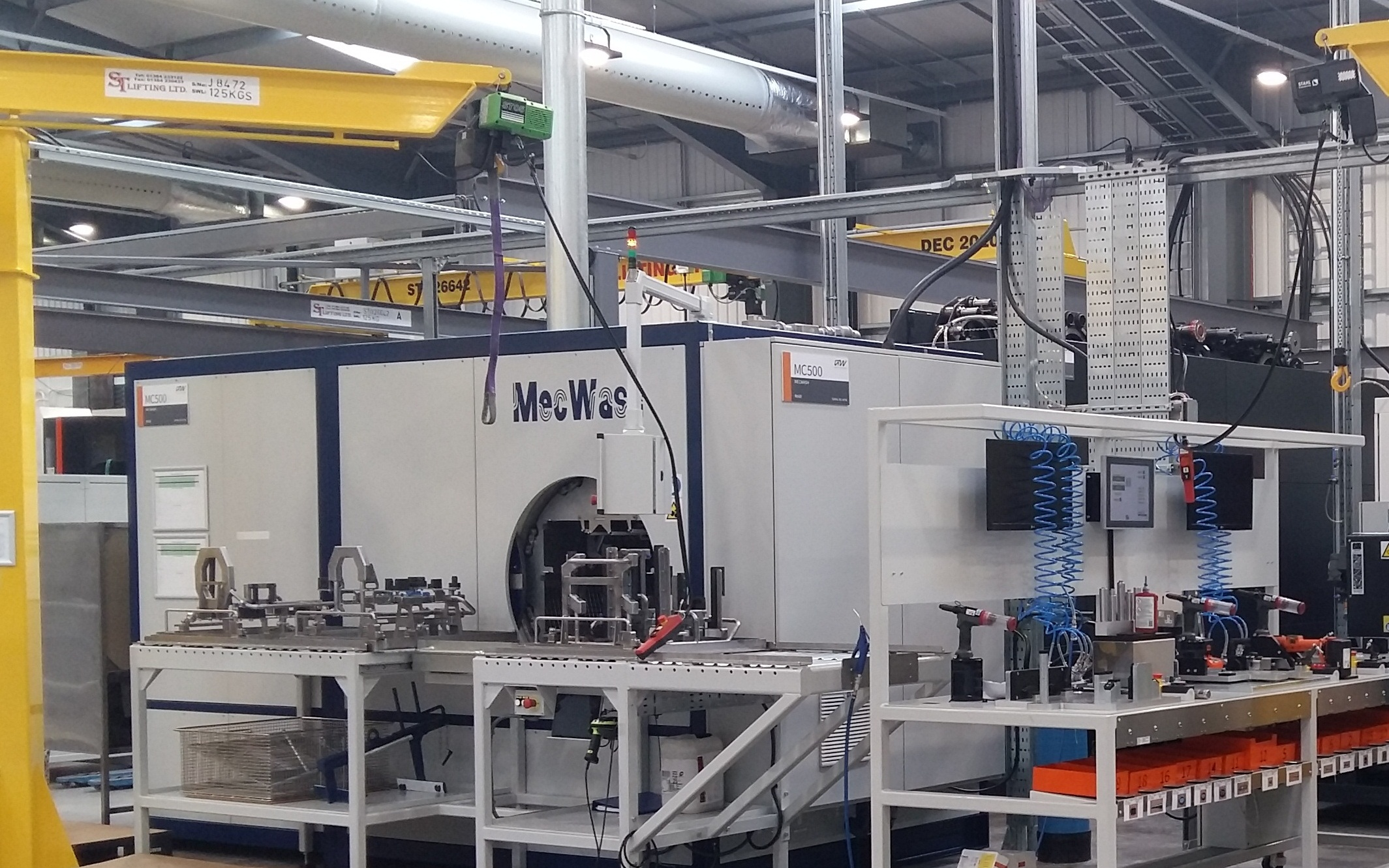 MecWash Midi cleaning system at Grainger & Worrall