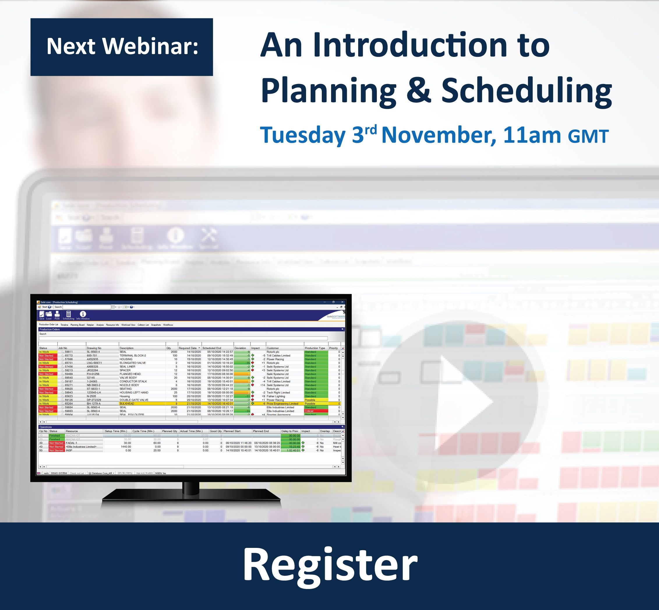 Seiki Systems - An Introduction to Planning and Scheduling