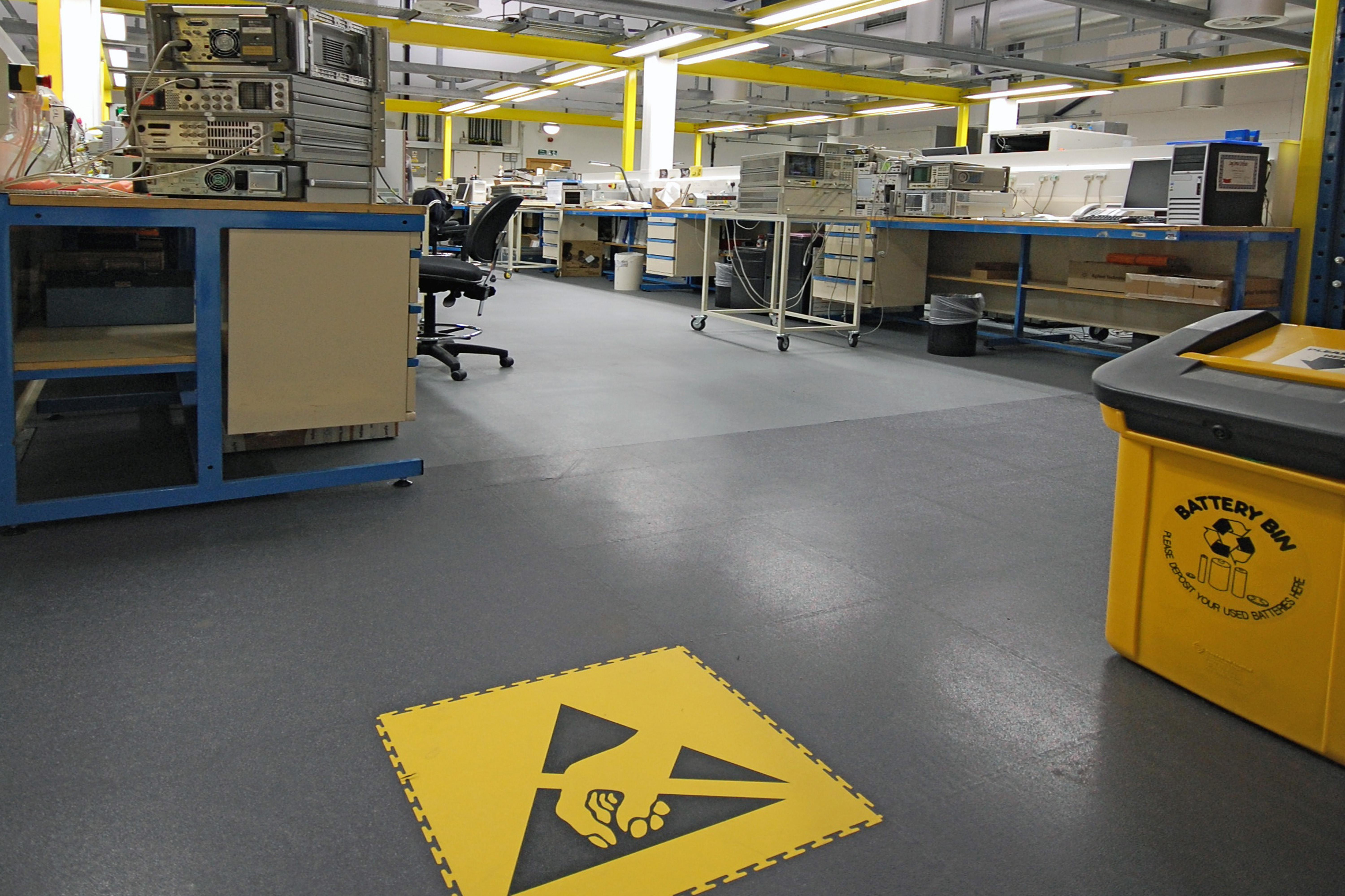 Ecotile ESD floor tiles